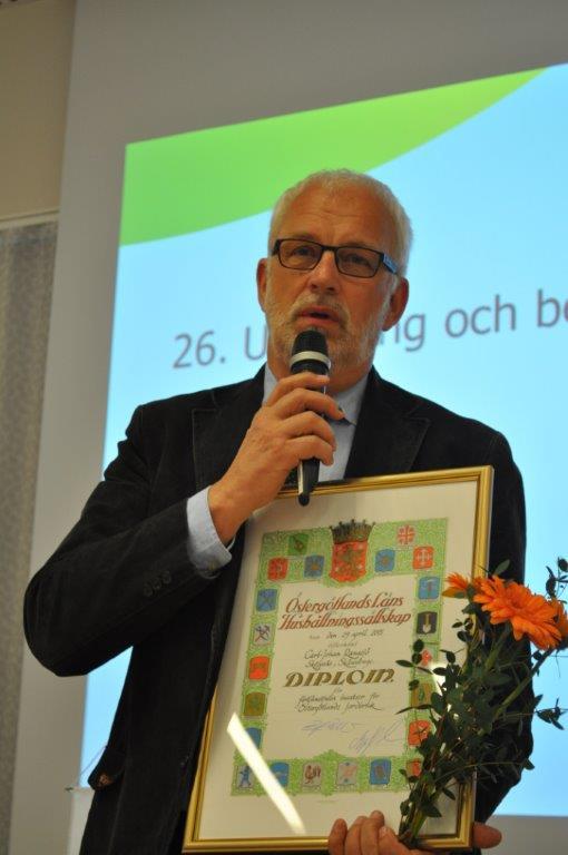"""Carl-Johan Rangsjö """"För förtjänstfulla insatser i bygden"""""""