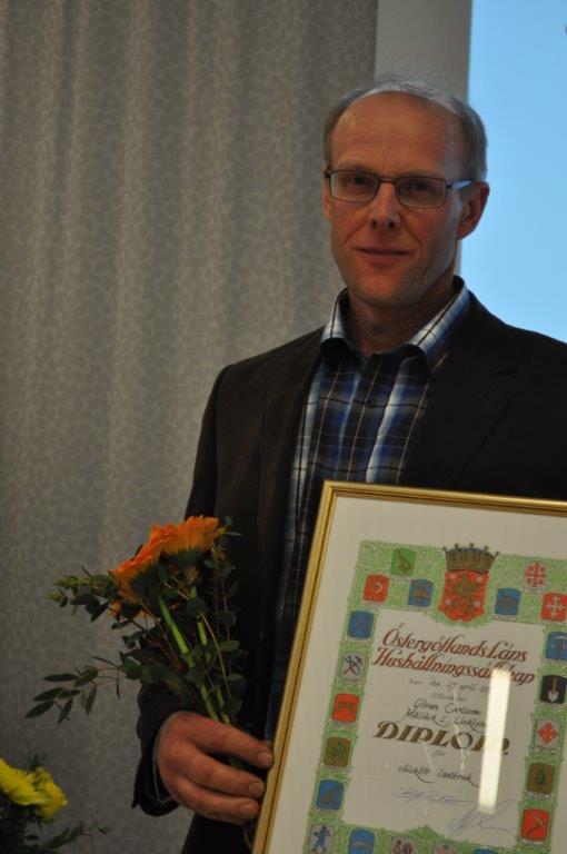 Göran Carlsson belönades för välskött lantbruk.
