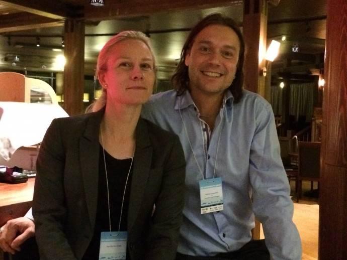 Pernilla Hörnfeldt, projektledare för ÅSS och Mattias Grapenfelt VD Hushållningssällskapet Jämtland huvudarrangör