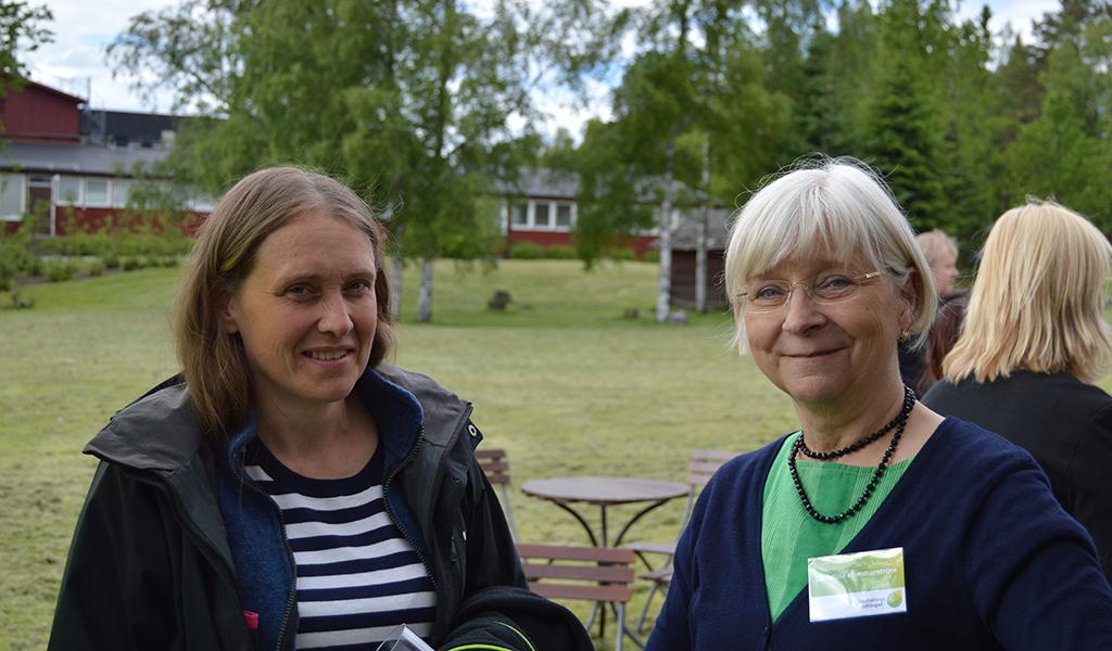 Barbro Granberg, medlem i Umeå Södra hushållningsgille samtalade med Christina Hammarström, landsbygdsutvecklare på Hushållningssällskapets Umeåkontor.