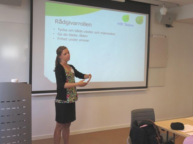 Victoria Tönnberg, mentor, berättar om sin roll som bärrådgivare på HIR Skåne