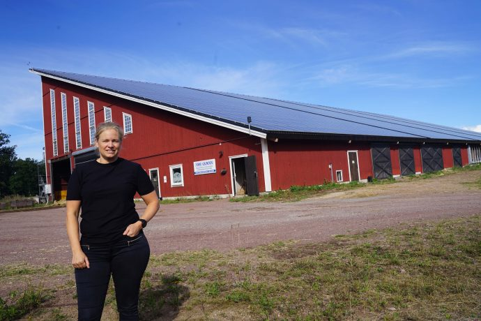 Veronica Svenzén på sin gård Nöbble.